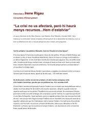 Entrevista a Irene Rigau - CEIP La Draga