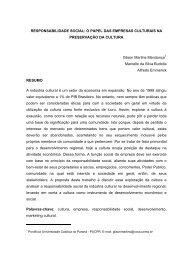 Responsabilidade Social: o papel das empresas culturais na ...