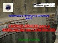 Reparação e Reforço de Estruturas - Aula 2: Critérios Básicos ... - LEB