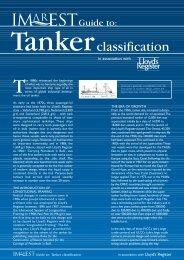 IMarEST guide to tanker classification - Lloyd's Register