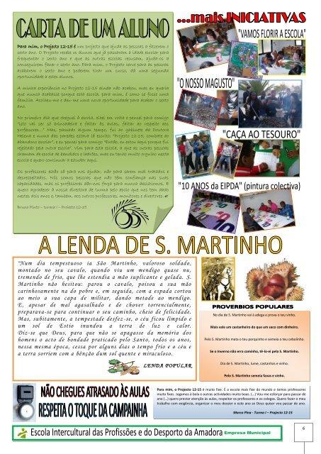 Jornal PROJECTO 12-15 N.º 1 (PDF - Escola Intercultural