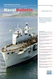 Naval bulletin sept 03 (pdf, 324kb) - Lloyd's Register