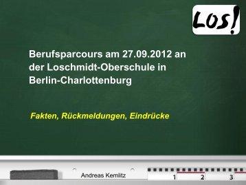 Berufsparcours am 22.09.2011 an der Loschmidt-Oberschule in ...