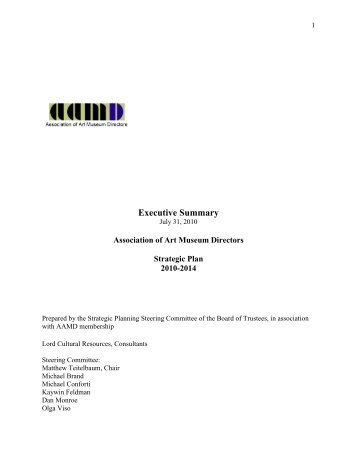Executive Summary - Lord Cultural Resources