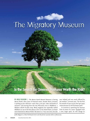 The Migratory Museum - Lord Cultural Resources