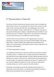 Bieler Gespräche Rencontres biennoises Incontri di Bienne