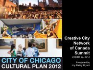 Creative City Network of Canada Summit - Lord Cultural Resources