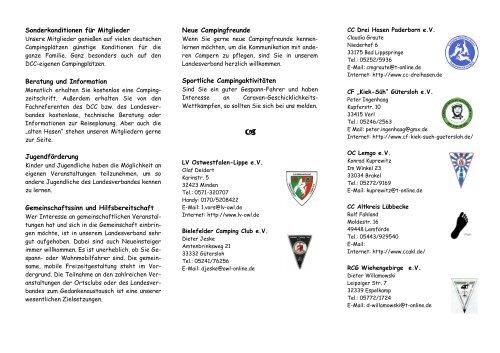 Sonderkonditionen für Mitglieder Beratung und Information ...
