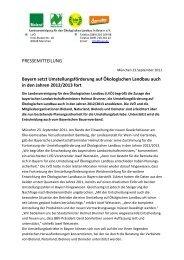 Bayern setzt Umstellungsförderung auf Ökologischen Landbau auch ...