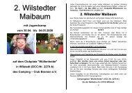 2. Wilstedter Maibaum - des Landesverbandes Ostwestfalen-Lippe