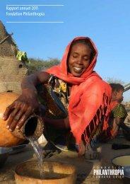 Rapport annuel 2011 Fondation Philanthropia - Lombard Odier