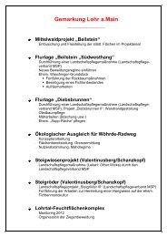 Arbeitsprogramm Naturschutz und Landschaftspflege ... - Lohr a. Main