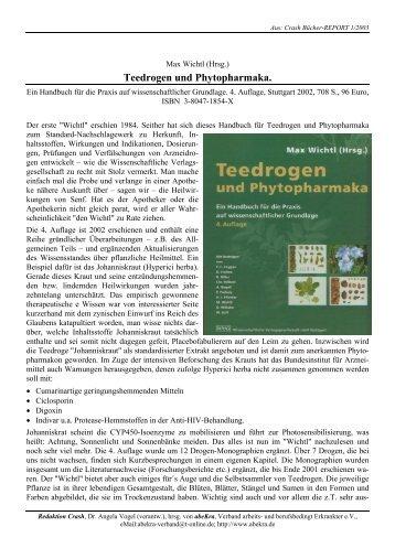Teedrogen und Phytopharmaka. - abeKra