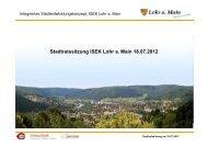 Stadtratssitzung ISEK Lohr a. Main 18.07.2012