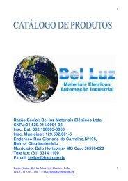 CATALOGO BELLUZ 2010 - Bel Luz Materiais Elétricos Ltda