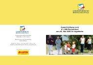 Ausschreibung zum 8. LSB-Partnerlauf am 18. Mai 2013 in Ingelheim