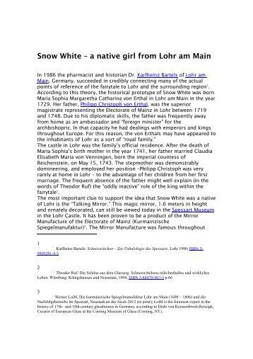Snow White - Lohr a. Main