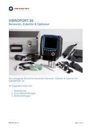 VIBROPORT 80 Sensoren, Zubehör & Optionen