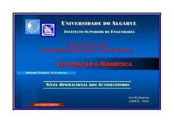 Roteiro Teórico de Automação e Robótica - Universidade do Algarve