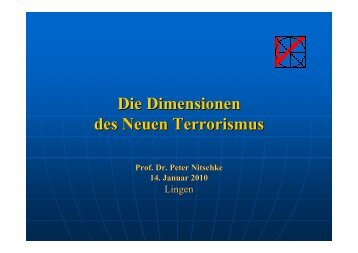 Die Dimensionen des Neuen Terrorismus - Kath.de