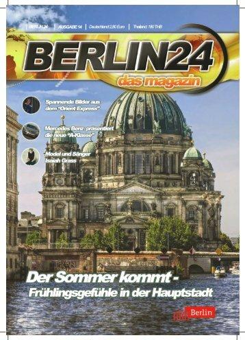 Berlin 24 Das Magazin Ausgabe 14