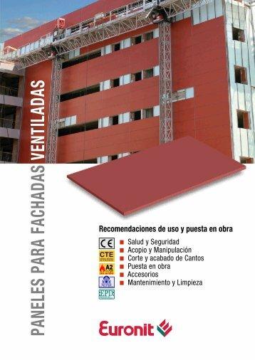 Recomendaciones de uso y puesta en obra - Euronit