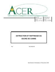 Extraction et raffinage du sucre de canne (pdf - FranceAgriMer