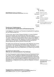 Einladungsschreiben - Deutsche Gesellschaft für Logotherapie und ...