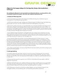 Allgemeine Vertragsgrundlagen für Verträge über Design ...