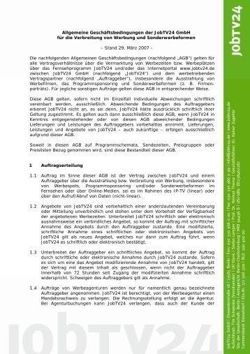 JobTV24 GmbH | Eisw erderstraß e 18 | 13585 ... - Logistikjob.de
