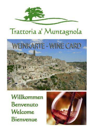 Weinkarte Muntagnola