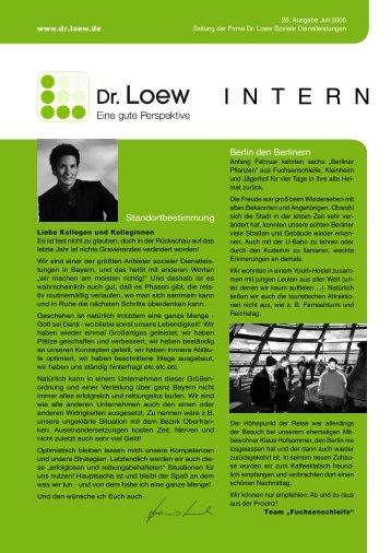 I N T E R N - Dr. Loew
