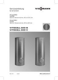 Vitocell 300-B Serviceanleitung