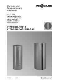 Vitocell 100-E Montage- und Serviceanleitung