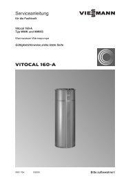 Vitocal 160-A Serviceanleitung