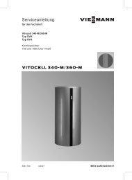 Vitocell 340-M Serviceanleitung