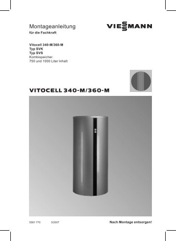 Vitocell 360-M Montageanleitung