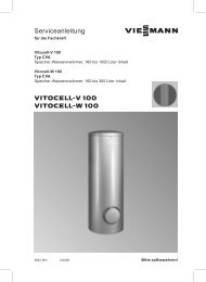 Vitocell 100-V Serviceanleitung