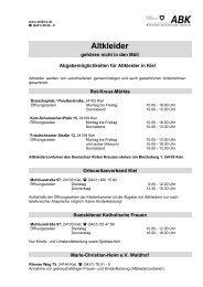 Altkleider - Abfallwirtschaftsbetrieb Kiel