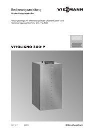 Vitoligno 300-P Bedienungsanleitung