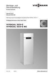 Vitocal 333-G Montage- und Serviceanleitung