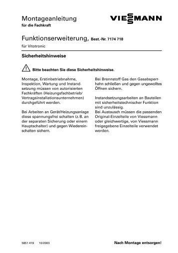 Montageanleitung Funktionserweiterung, Best. Nr. 7174 718