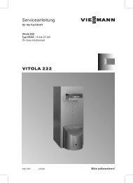 Vitola 222 Serviceanleitung