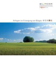 Anlagen zur Erzeugung von Biogas Prospekt (1,23 MB)