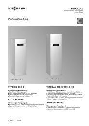 Vitocal 333-G Planungsanleitung