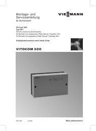 Vitocom 200 Montage
