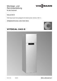 Vitocal 242-G Montage- und Serviceanleitung