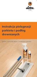 Instrukcja pielęgnacji parkietu i podłóg drewnianych - Loba