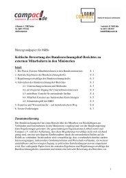 kritische Analyse des Bundesrechnungshof-Berichts zu - LobbyControl