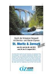 Bernina- und Glacier-Express - LN-Hapag-LLoyd Reisebüro Lübeck
